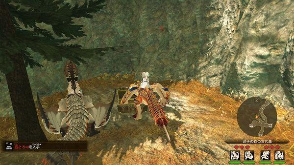《怪物猎人物语2》情报攻略——迷茫森林古代巢穴的怪物和宝箱